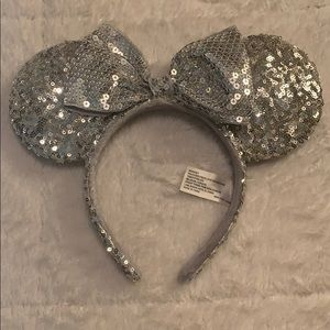 Authentic Disney Silver Sequin Ears